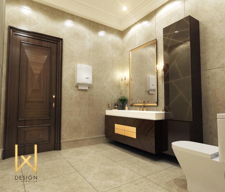 Phòng tắm phong cách kinh điển bởi W DESIGN İÇ MİMARLIK Kinh điển