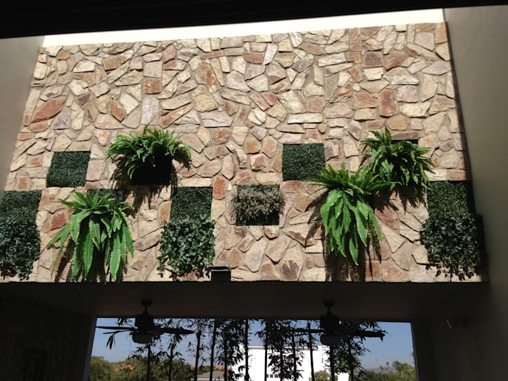 Jardines de estilo  por Hussein Garzon arquitectura