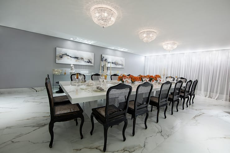 Sala de Jantar: Salas de jantar  por Arina Araujo Arquitetura e Interiores
