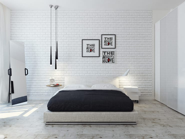 minimalistic Bedroom by Оксана Мухина