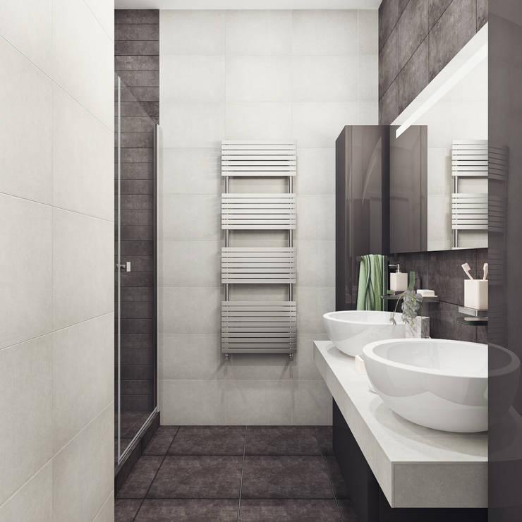 Ванная 1й этаж: Ванные комнаты в . Автор – Оксана Мухина
