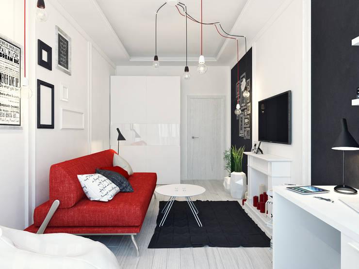 Projekty,  Sypialnia zaprojektowane przez Оксана Мухина