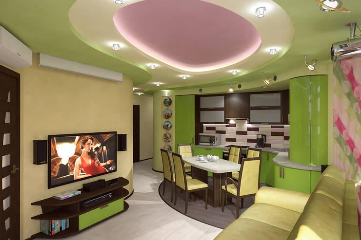 Кухня-студио: Гостиная в . Автор – Fusion Dots
