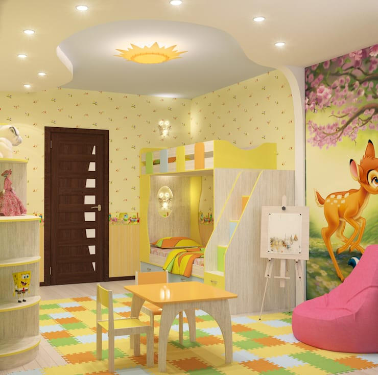 Детская : Детские комнаты в . Автор – Fusion Dots