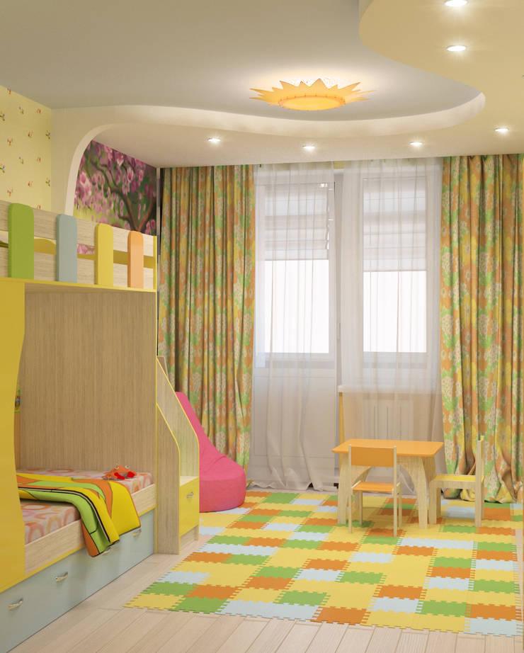 Детская: Детские комнаты в . Автор – Fusion Dots