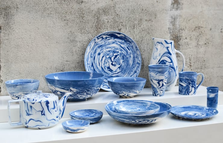 Blue and White Collection:  Dining room by Nom Living