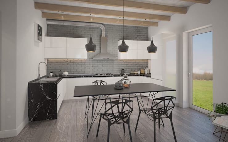 Белый дом: Кухни в . Автор – room4life