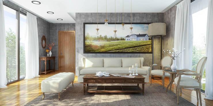 Ali İhsan Değirmenci Creative Workshop – Özgün Salon Tasarımı (Living Room):  tarz Oturma Odası
