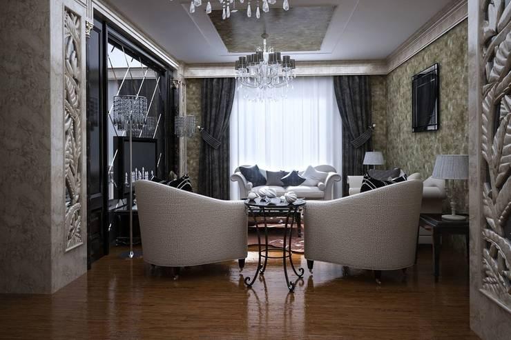 Ali İhsan Değirmenci Creative Workshop – Klasik Salon Mimari Tasarımı: klasik tarz tarz Oturma Odası