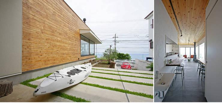 小田原 西湘 オーシャンビューの家: ミナトデザイン1級建築士事務所が手掛けたビーチハウス・クルーザーです。