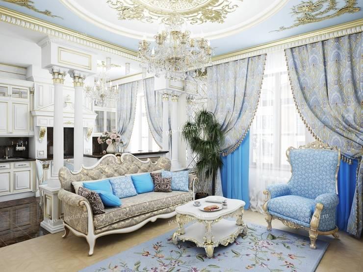 Soggiorno in stile in stile Classico di Архитектурное Бюро 'Капитель'