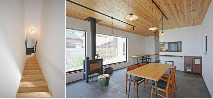 小田原 西湘 オーシャンビューの家: ミナトデザイン1級建築士事務所が手掛けたダイニングです。