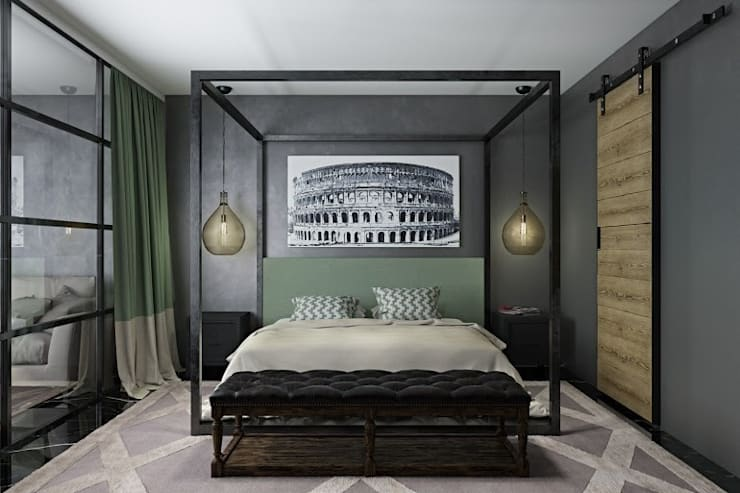 ห้องนอน by Oh, Boy! Интерьеры с мужским характером