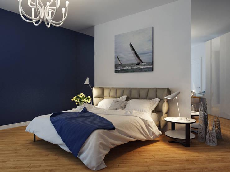 Dormitorios de estilo mediterráneo de Оксана Мухина