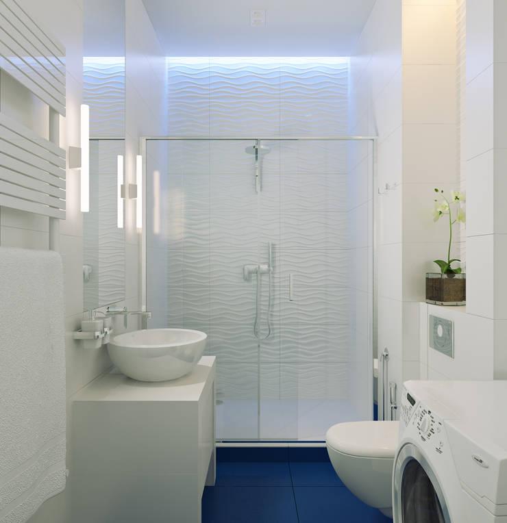 Санузел гостевой: Ванные комнаты в . Автор – Оксана Мухина