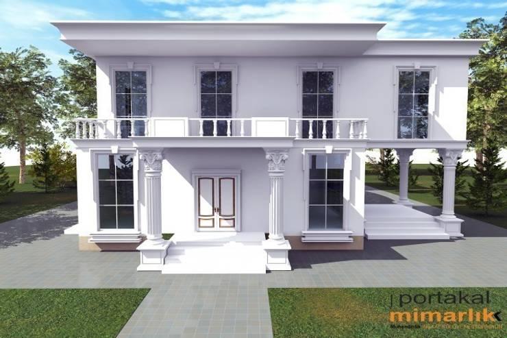 PORTAKAL MİMARLIK MÜHENDİSLİK İNŞAAT RÖLÖVE VE RESTORASYON – Villa Kent Projesi:  tarz Evler, Modern