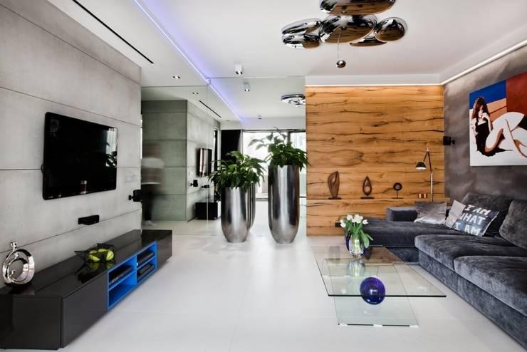 ART. – SPORT – RELAX  Warszawa - mieszkanie 90 m2 : styl , w kategorii Salon zaprojektowany przez TG STUDIO