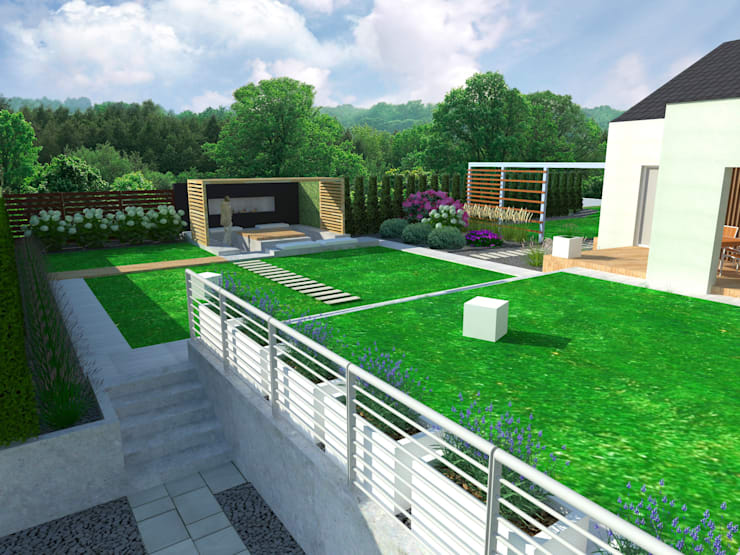Ogród Nowoczesny: styl , w kategorii Ogród zaprojektowany przez LandscapeDesign.pl