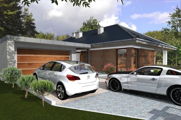 Casas de estilo  por ABC Pracownia Projektowa Bożena Nosiła - 1