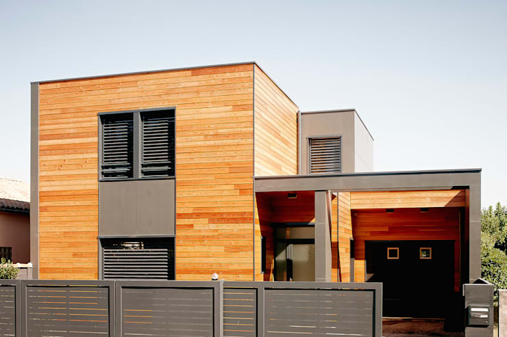 MAISON L33: Maisons de style de style Moderne par Cendrine Deville Jacquot, Architecte DPLG, A²B2D