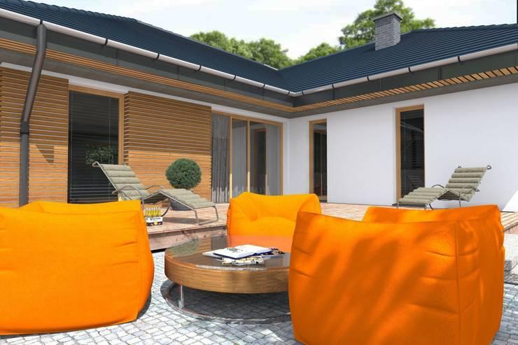 DZ-3 – dom energoszczędny: styl , w kategorii Domy zaprojektowany przez ABC Pracownia Projektowa Bożena Nosiła - 1