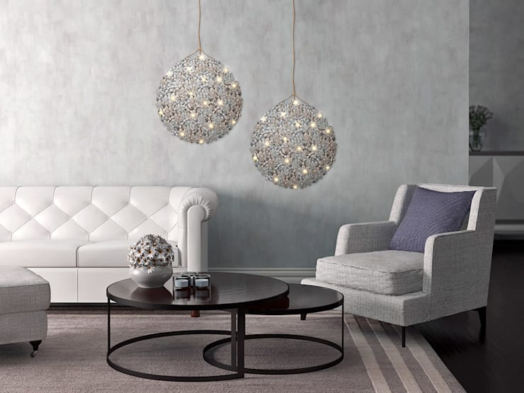 Germamium LED Wallpaper Chandelier - Roomset:  Living room by Meystyle
