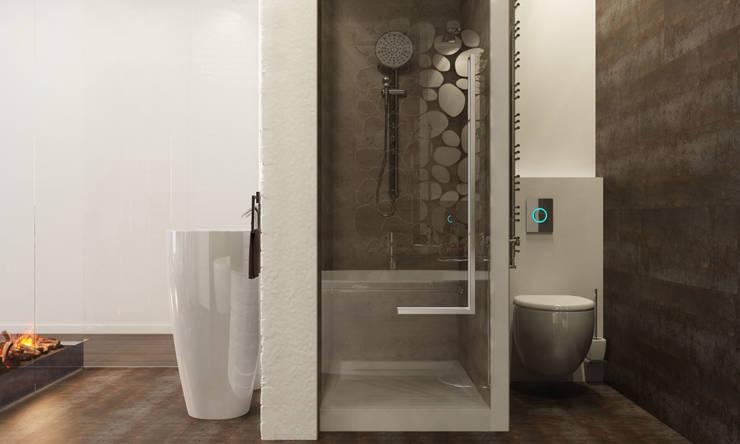 Спальня с умными технологиями: Ванные комнаты в . Автор – Tatiana Shishkina