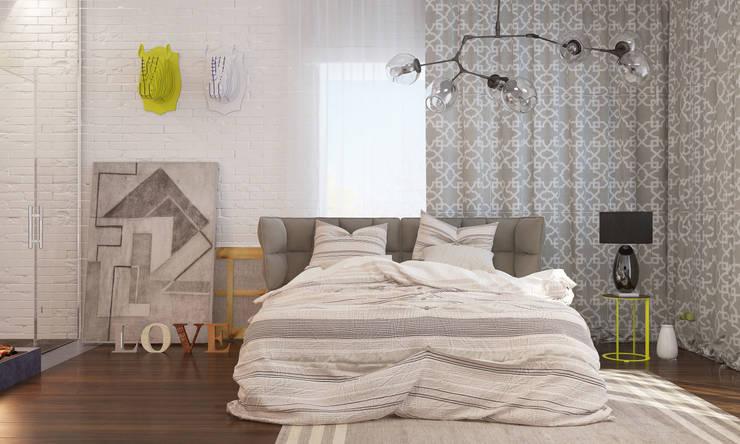 Dormitorios de estilo escandinavo por INROOM