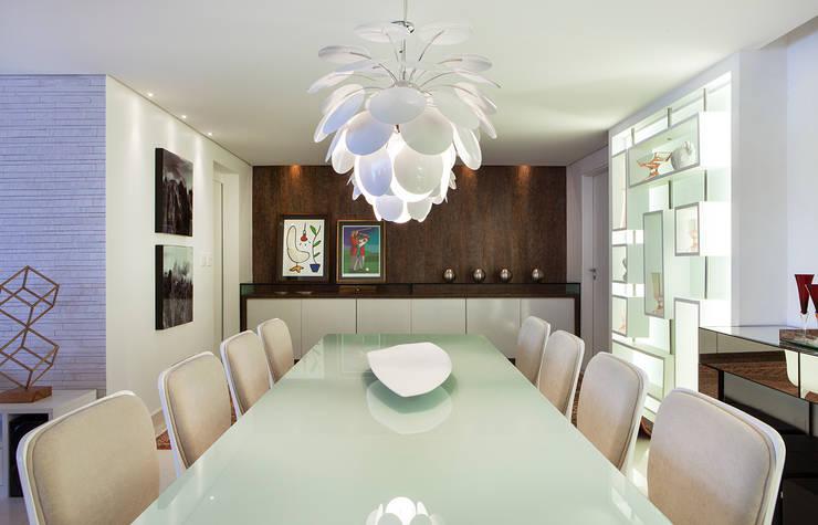 Столовая комната в . Автор – André Caricio Arquitetura