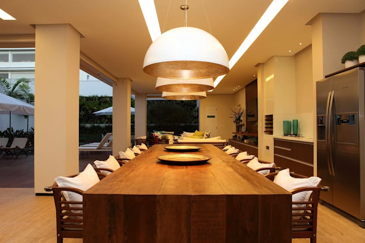 Casa do Jardim Vertical: Terraços  por Ana Paula e Sanderson Arquitetura