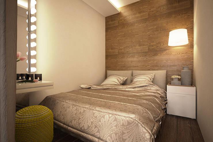 Дизайн-проект квартиры в стиле лофт.: Спальни в . Автор – Александра Петропавловская