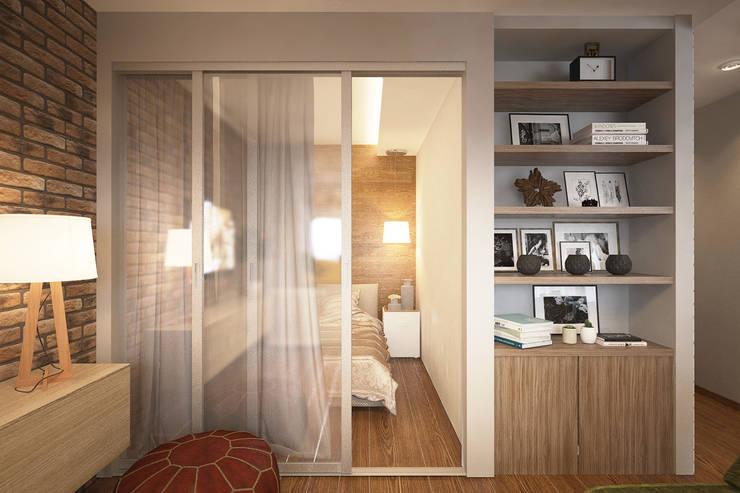 Дизайн-проект квартиры в стиле лофт.: Гостиная в . Автор – Александра Петропавловская