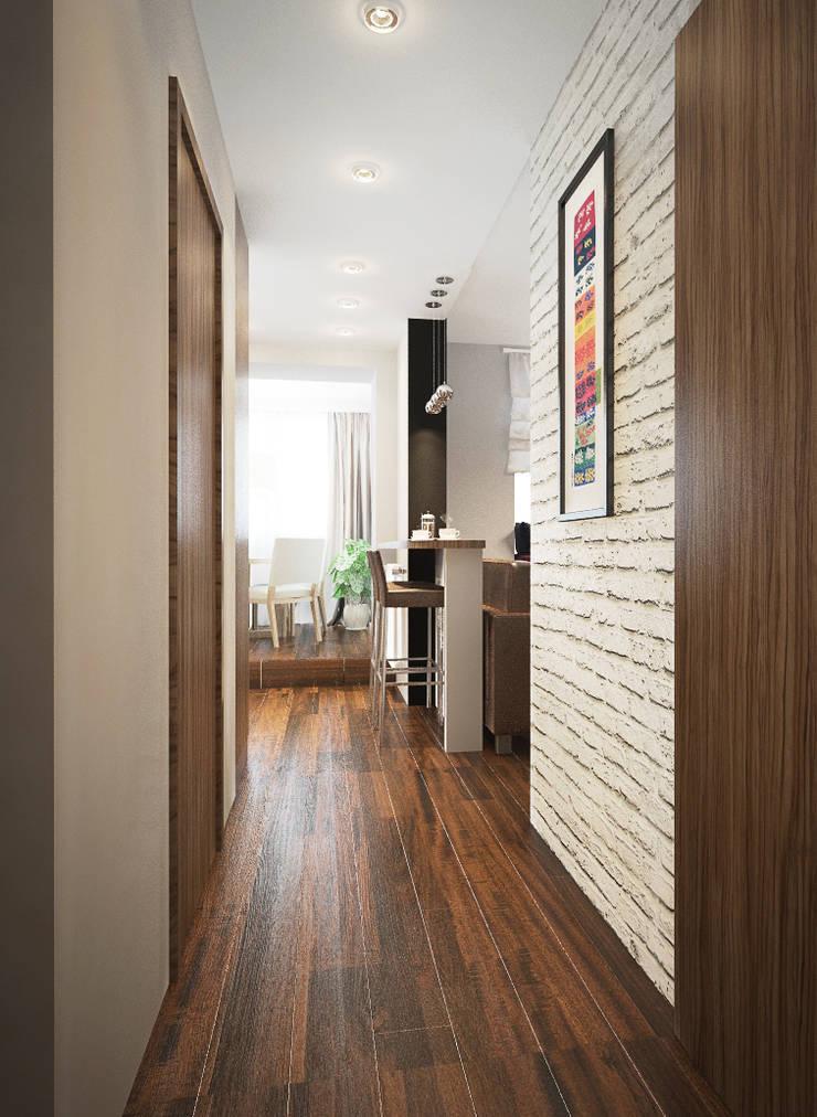 Дизайн-проект квартиры в стиле лофт.: Коридор и прихожая в . Автор – Александра Петропавловская