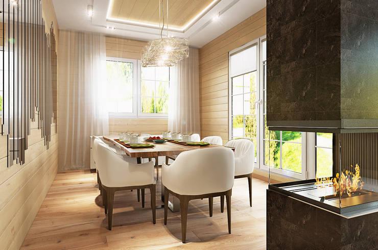 Николо-Прозорово, 365 м²: Столовые комнаты в . Автор – Bronx