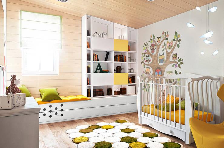 Николо-Прозорово, 365 м²: Детские комнаты в . Автор – Bronx