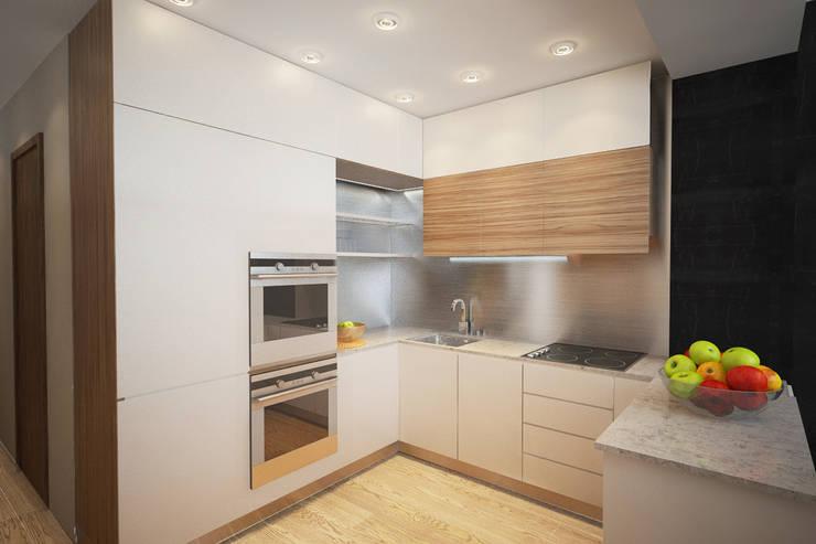 Дизайн-проект квартиры в стиле лофт.: Кухни в . Автор – Александра Петропавловская