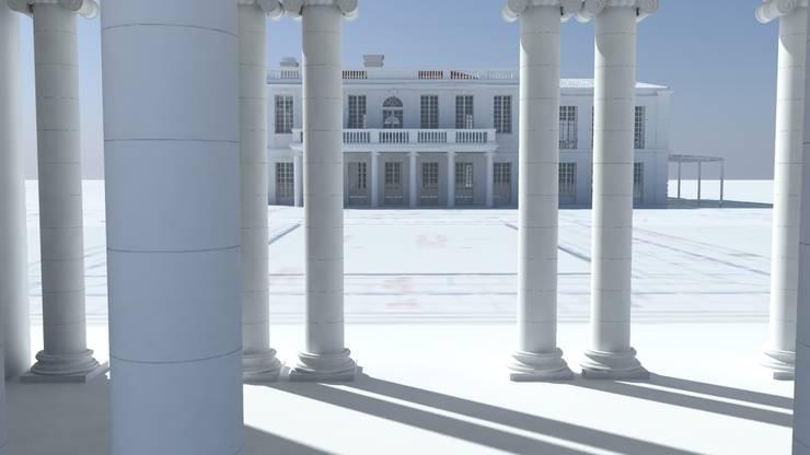 wisok z pawilonu na pałacyk: styl , w kategorii  zaprojektowany przez Autorska Pracownia Architektury Krajobrazu Jardin
