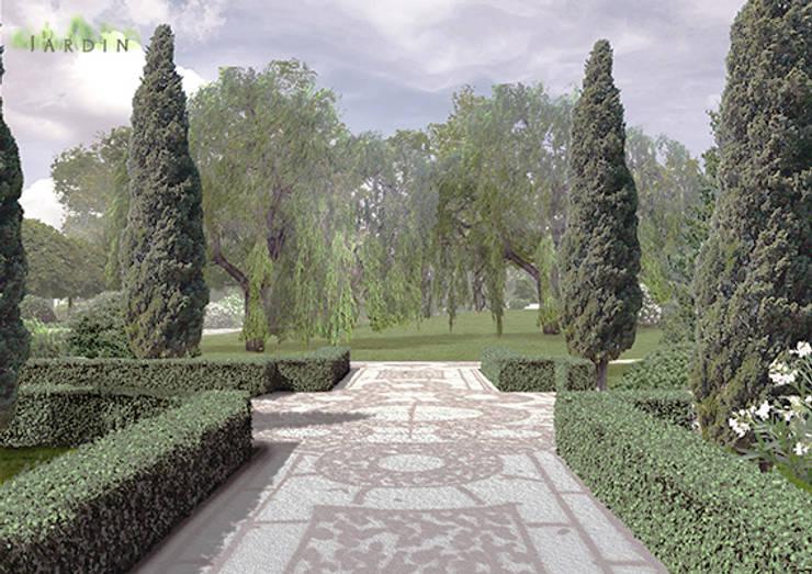 widok na park: styl , w kategorii  zaprojektowany przez Autorska Pracownia Architektury Krajobrazu Jardin