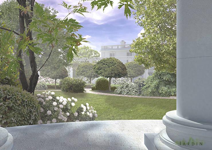 widok z altany na wzniesieniu: styl , w kategorii  zaprojektowany przez Autorska Pracownia Architektury Krajobrazu Jardin