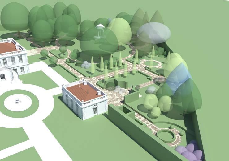 Park we Francji: styl , w kategorii  zaprojektowany przez Autorska Pracownia Architektury Krajobrazu Jardin