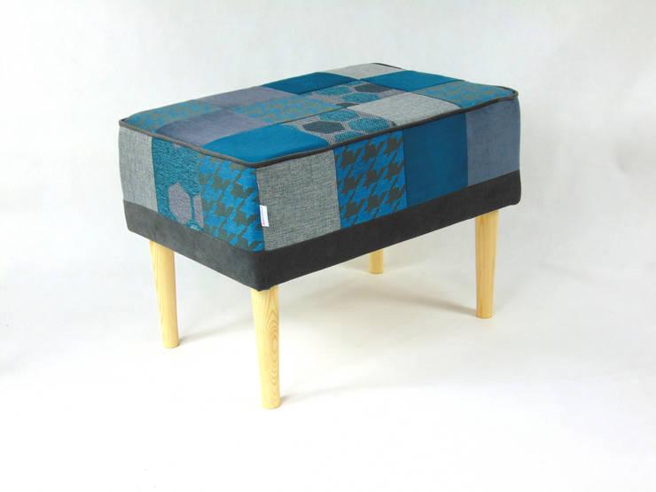 Ławka patchwork: styl , w kategorii Salon zaprojektowany przez LandAproject