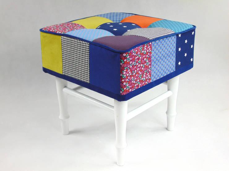 Pufa patcwork: styl , w kategorii Salon zaprojektowany przez LandAproject