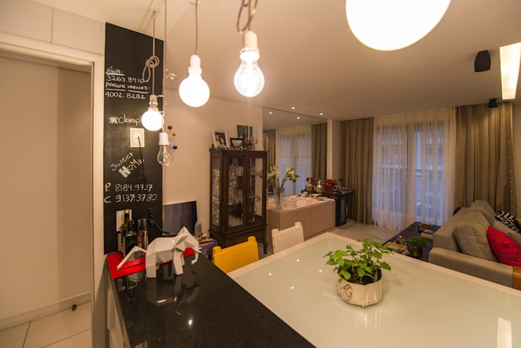 Edificio Jangada: Salas de jantar  por Bloom Arquitetura e Design,