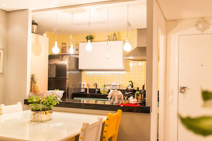 Edificio Jangada: Cozinhas  por Bloom Arquitetura e Design,
