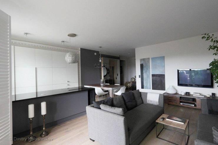 Apartament na Woli: styl , w kategorii Salon zaprojektowany przez Pracownia Projektowa Hanna Kłyk