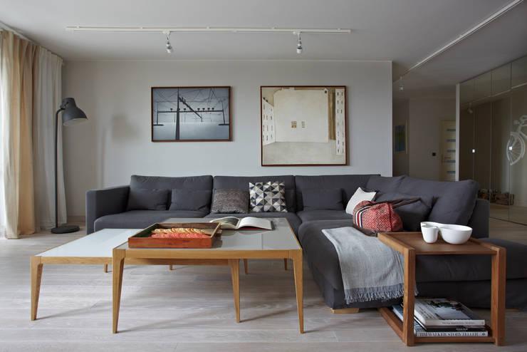 Ochota: styl , w kategorii Salon zaprojektowany przez Pracownia Projektowa Hanna Kłyk