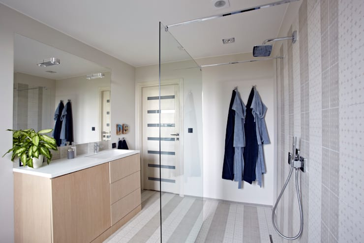 Ochota: styl , w kategorii Łazienka zaprojektowany przez Pracownia Projektowa Hanna Kłyk