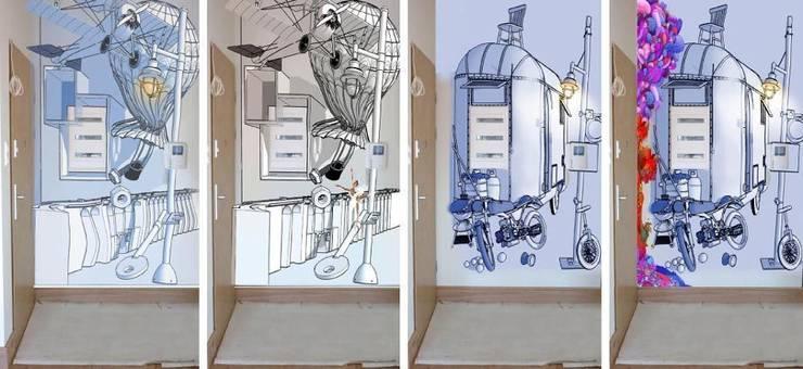 Trójmiasto: styl , w kategorii Sztuka zaprojektowany przez Pracownia Projektowa Hanna Kłyk  ,