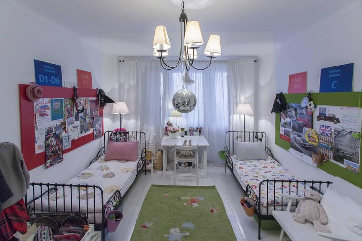 Детская в скандинавском стиле.:  в . Автор – студия Дизайн Квадрат, Скандинавский