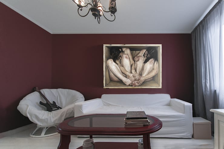 Спальня в скандинавском стиле.:  в . Автор – студия Дизайн Квадрат, Скандинавский